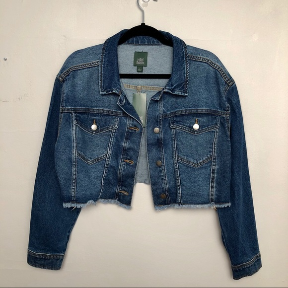 75fcaf02c Wild Fable | Distressed Cropped Denim Jean Jacket
